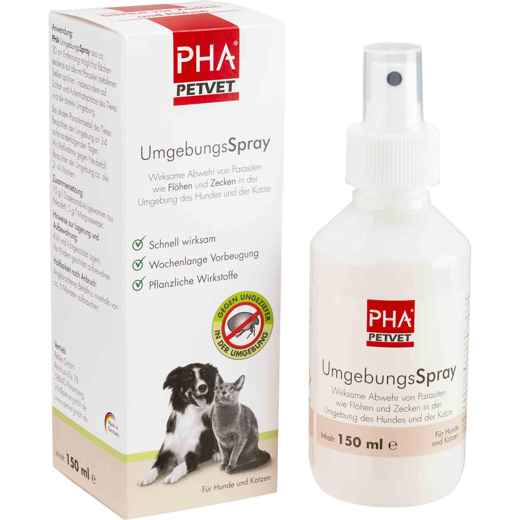 PHA UmgebungsSpray für Hunde und Katzen 150ml