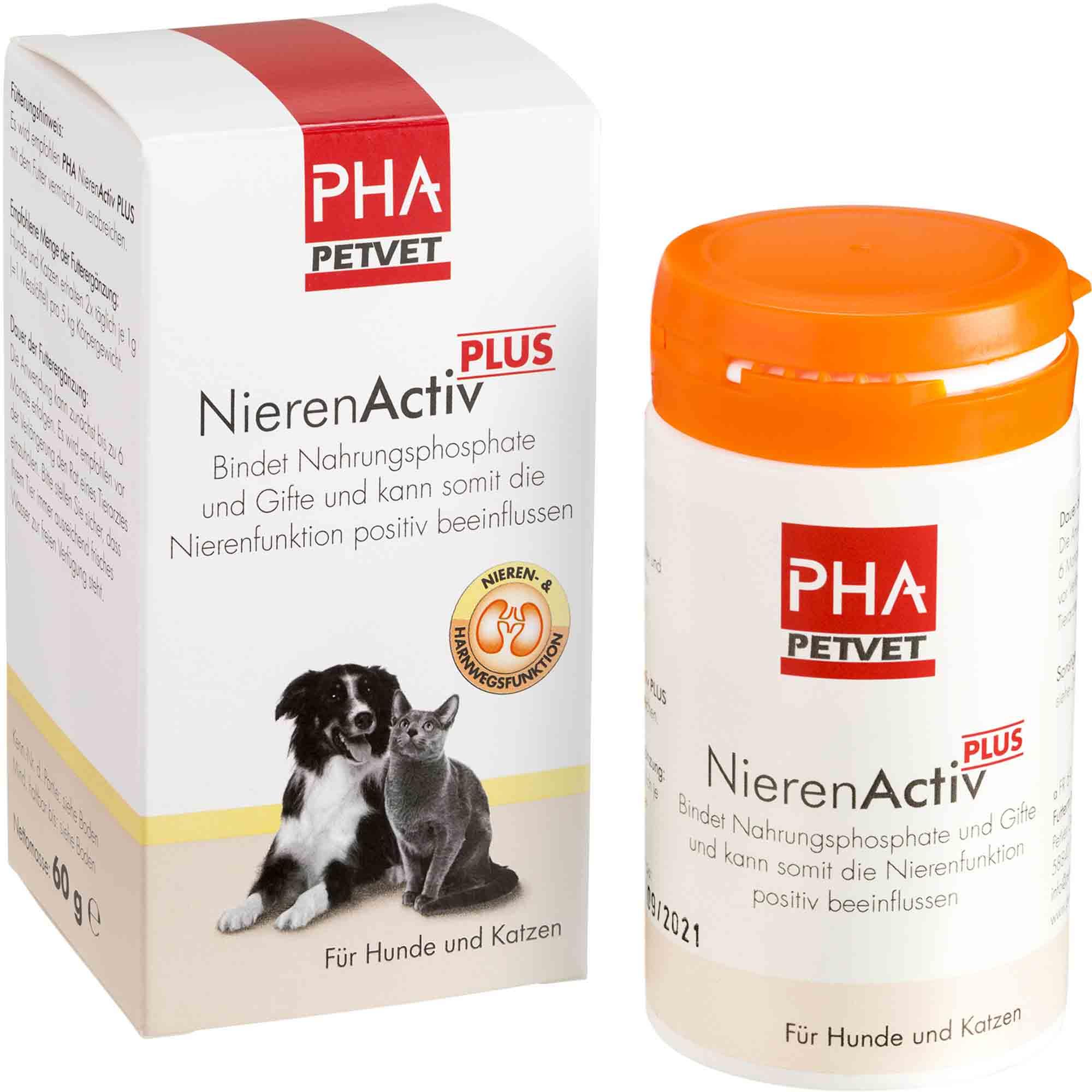 PHA NierenActiv Plus für Hunde und Katzen 60g