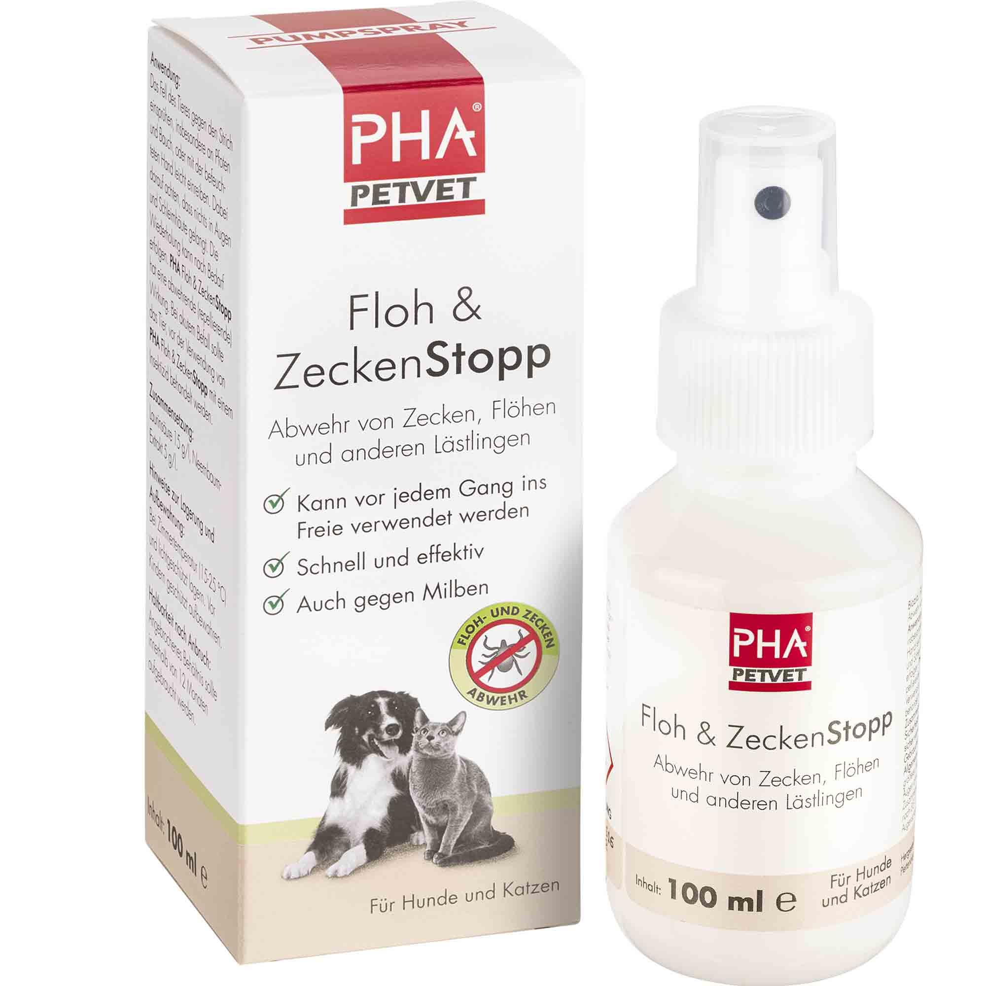 PHA Floh- und ZeckenStopp für Hunde und Katzen 100ml