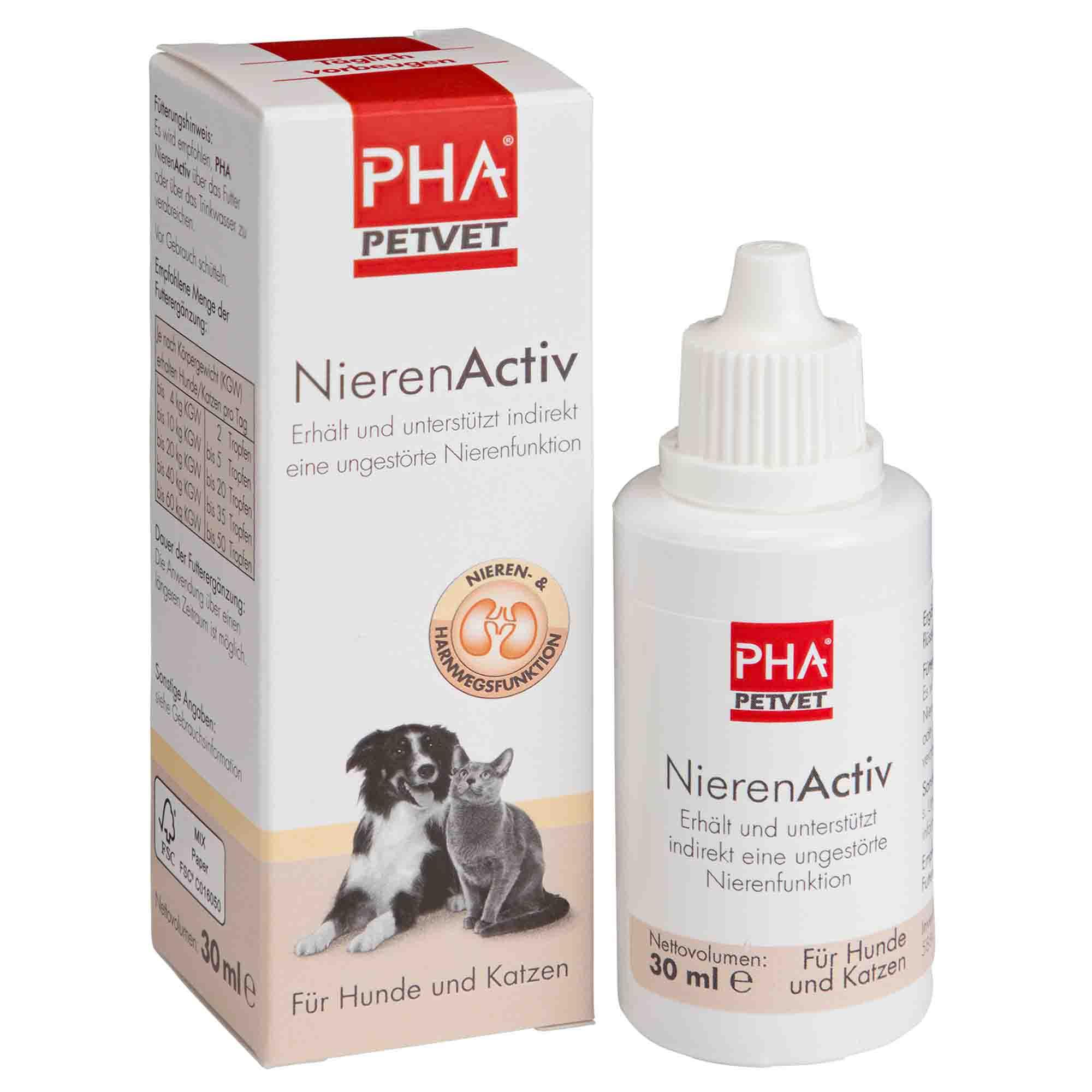 PHA NierenActiv für Hunde und Katzen 30ml