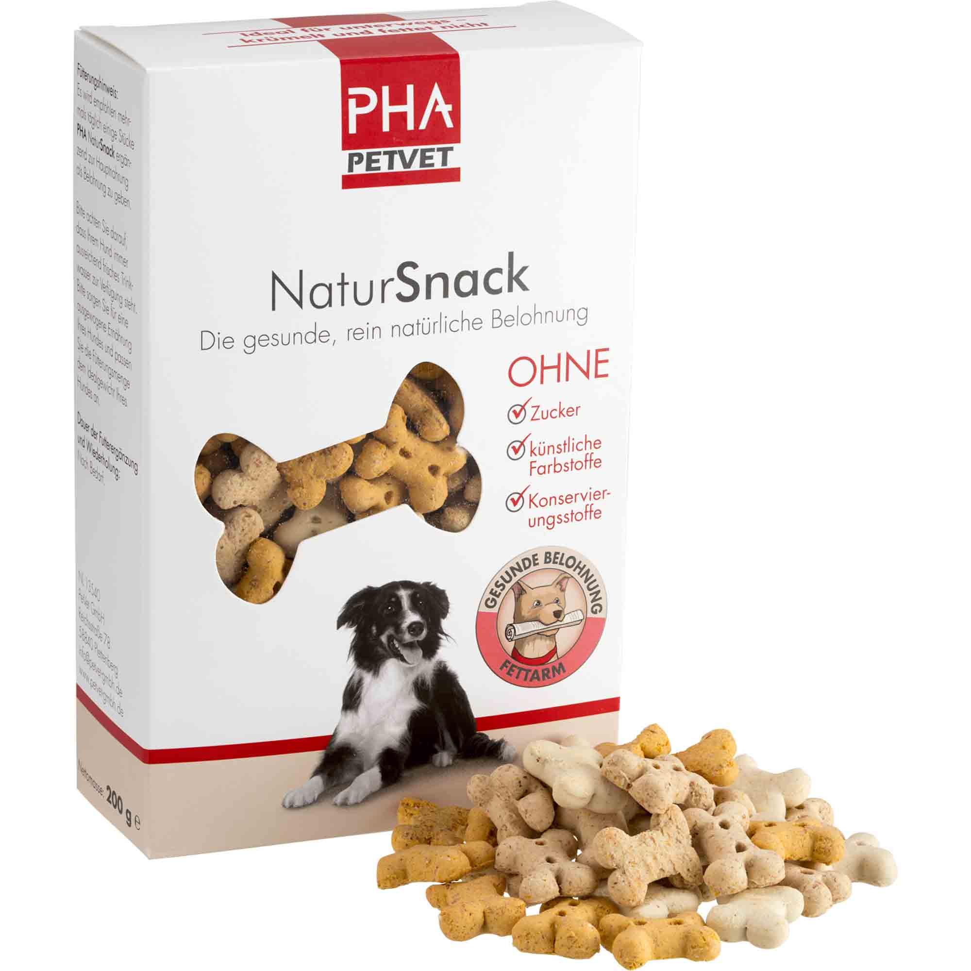 PHA NaturSnack für Hunde 200g Vorderseite