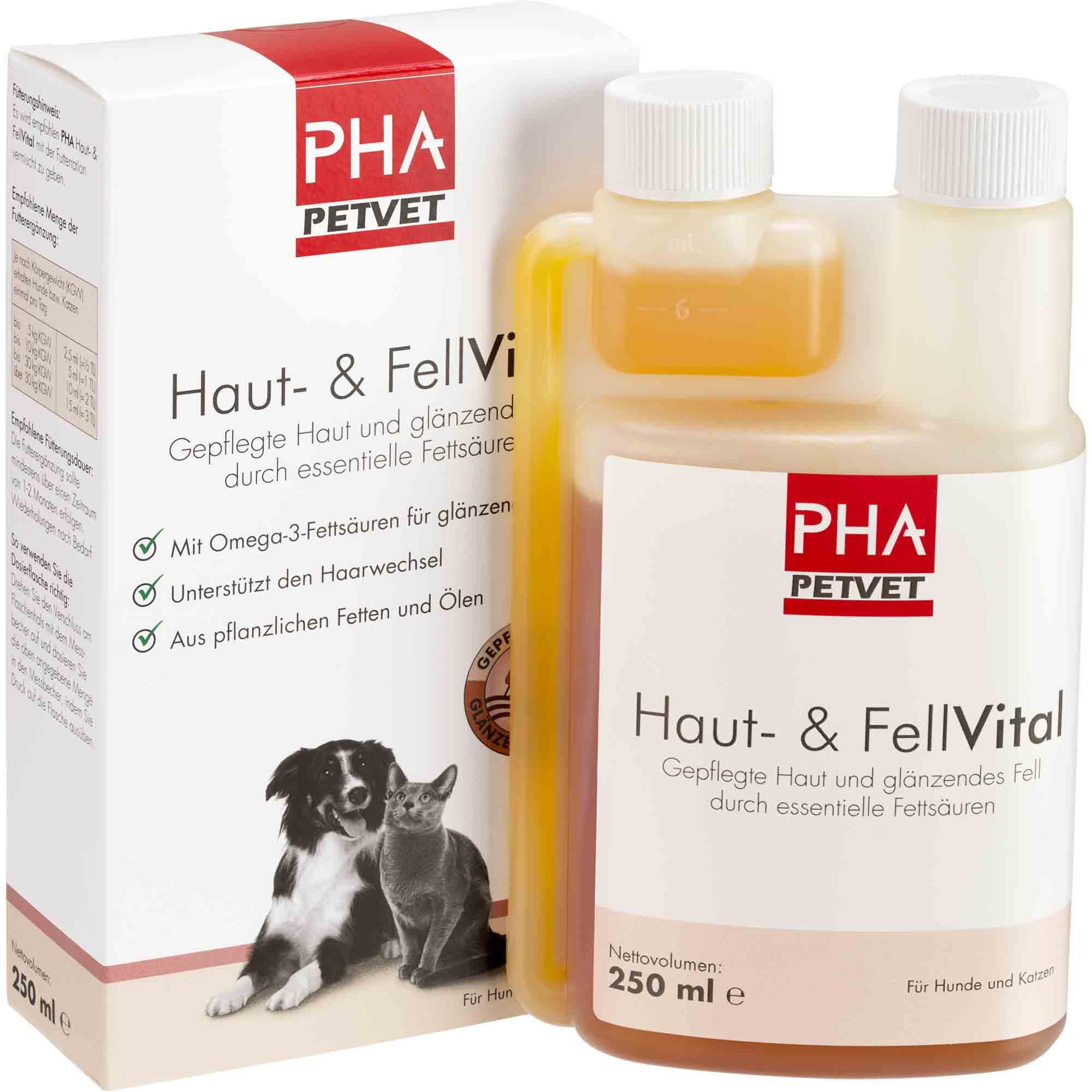 PHA Haut und FellVital für Hunde und Katzen 250ml